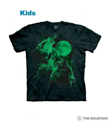 Three Wolf Moon - Kids Glow in the Dark T-shirt - The Mountain®